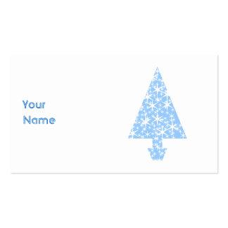 Light Blue Christmas Tree Design. Business Card Template