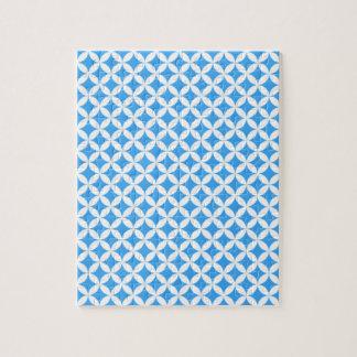 Light Blue Circle Pattern Jigsaw Puzzle