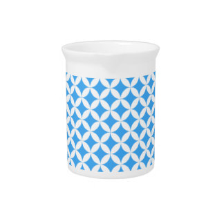 Light Blue Circle Pattern Pitcher