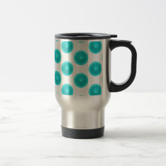 Light Blue Citrus Slice Polka Dots Mugs