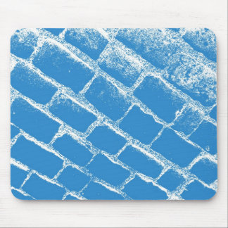 Light blue cobbles mouse pad