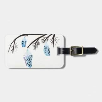 Light Blue Cocoons Luggage Tag