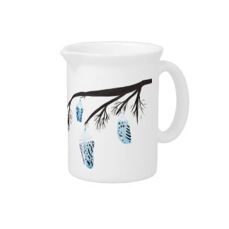Light Blue Cocoons Pitcher