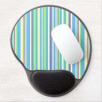 Light Blue Combo Stripes Gel Mouse Pad
