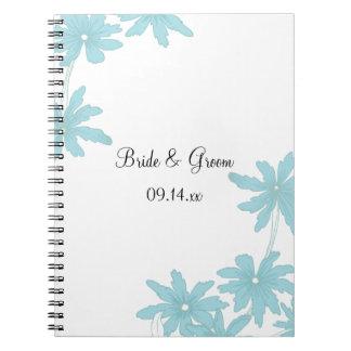 Light Blue Daisies Wedding Notebook