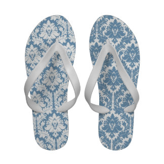 Light Blue Damask Sandals
