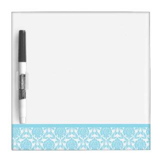 Light Blue Damask Pattern Dry Erase Board