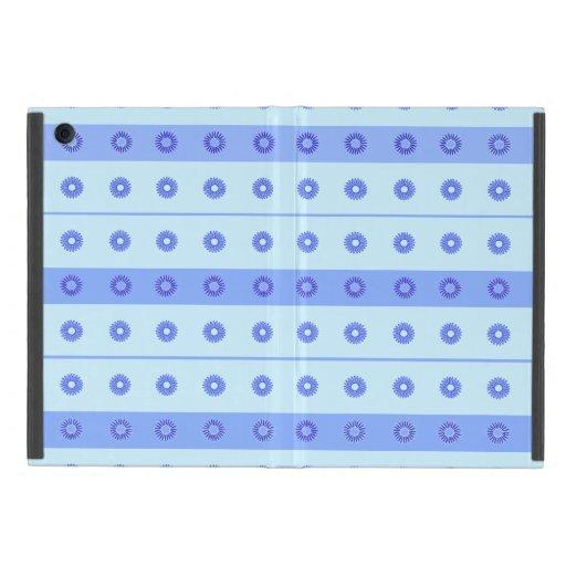 Light Blue Dark Blue Flowers Pattern iPad Mini Case