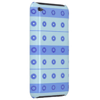 Light Blue Dark Blue Flowers Pattern iPod Touch Cases