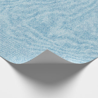 Light Blue Denim Texture Wrapping Paper