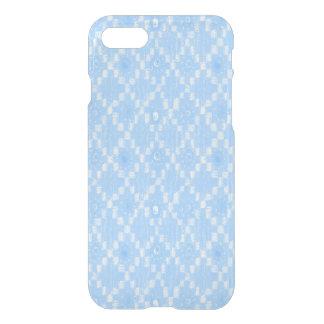 Light Blue Diamond Pattern Print iPhone 8/7 Case