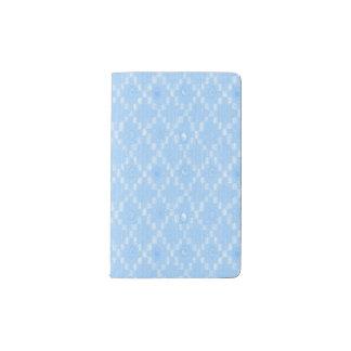 Light Blue Diamond Pattern Print Pocket Moleskine Notebook