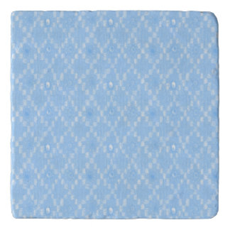 Light Blue Diamond Pattern Print Trivet