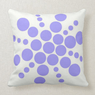 Light blue dotted stamped star throw pillow