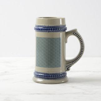 Light Blue Fabric Effect Beer Stein