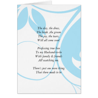 Light blue Floral  Be my bridemaid card