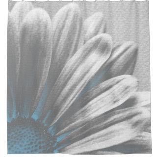 Light Blue Floral Highlights Shower Curtain