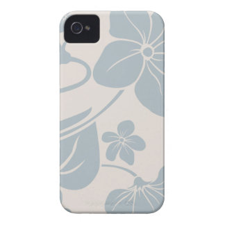 Light Blue Flowers iPhone 4 Case-Mate Cases