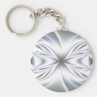Light Blue Fractal Background Key Ring