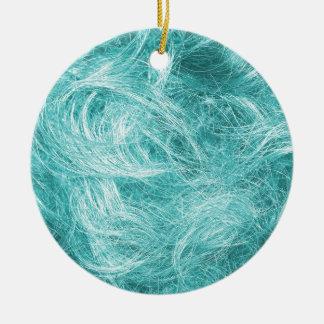 Light Blue Fur Christmas Ornament