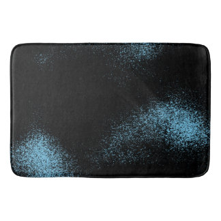 Light Blue Galaxy In Black Space Bath Mat