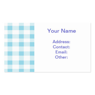 Light Blue Gingham Business Card Template