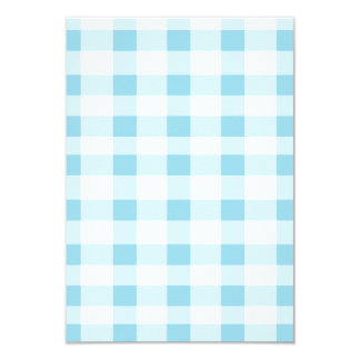 Light Blue Gingham 3.5x5 Paper Invitation Card