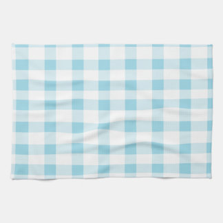 Light Blue Gingham Kitchen Towels