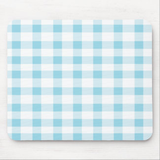 Light Blue Gingham Mouse Pad