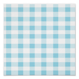 Light Blue Gingham Posters