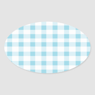 Light Blue Gingham Stickers