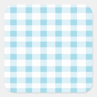 Light Blue Gingham Square Sticker