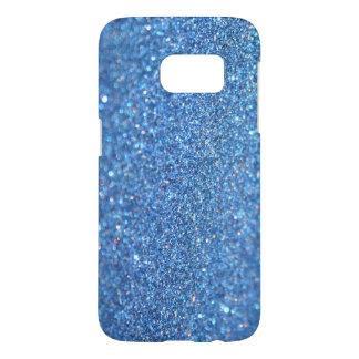 Light Blue Glitter Samsung Galaxy S7 Phone Case