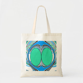 Light blue green superfly design canvas bags