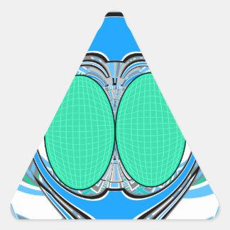 Light blue green superfly design sticker