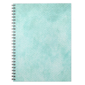 Light Blue Green Watercolor Paper Background Blank Notebook