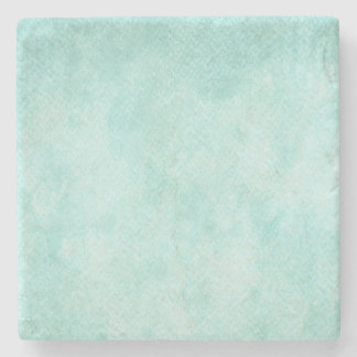 Light Blue Green Watercolor Paper Background Blank Stone Coaster