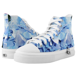 Light Blue Hydrangea Printed Shoes