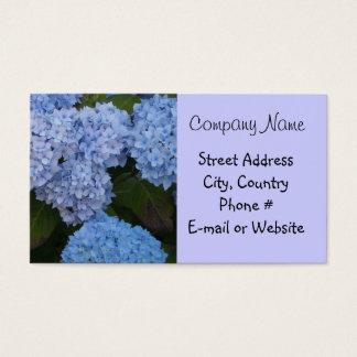Light Blue Hyrdrangea Business Card