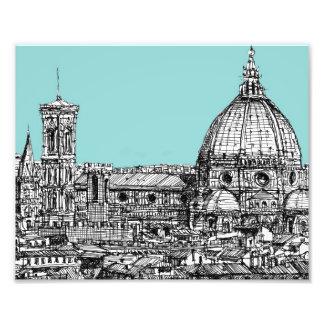 Light blue Italian ink Photographic Print