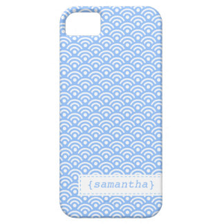 Light Blue Japanese Seigaiha Pattern Barely There iPhone 5 Case