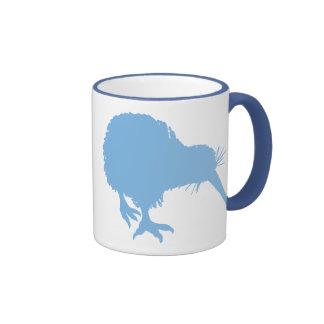 Light Blue Kiwi Ringer Mug