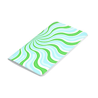 Light Blue & Lime Psychedelic Journal-Pocket Size Journal