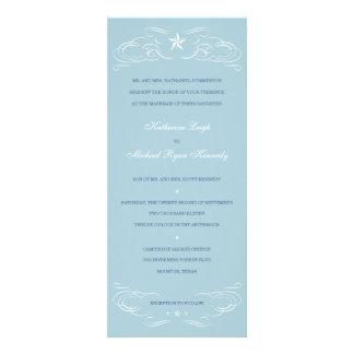 Light Blue Lone Star Wedding Invitations