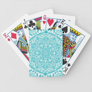 Light Blue Mandala Pattern Bicycle Playing Cards
