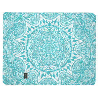 Light Blue Mandala Pattern Journal