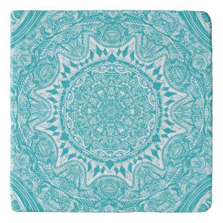 Light Blue Mandala Pattern Trivet