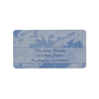 Light Blue Marble Address Label