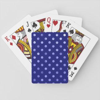 Light Blue Metallic Faux Foil Polka Dot Bright Playing Cards