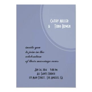 Light Blue Modern Wedding Card
